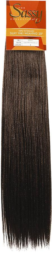 The Sassy Collection Sassy Silky 20 inch Yaki Weaving Extensions #4 Brown