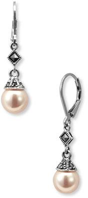 Judith Jack Glass Pearl Drop Earrings
