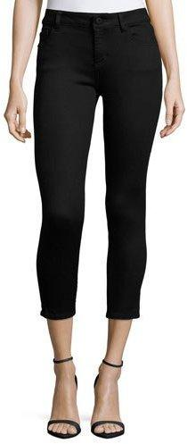DL 1961 Premium Denim Florence Skinny Cropped Jeans, Hail