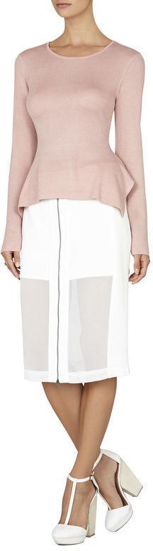 BCBGMAXAZRIA Audry Handkerchief Pullover