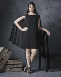 Shift Cape Dress