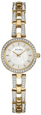 Two-Tone Crystal Analog Display Bracelet Watch