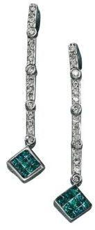 Black Diamond Diversa Earrings in 14 Kt. White Gold .52ct. t.w.