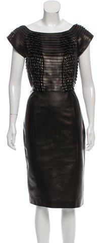 Gucci Leather Midi Dress