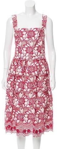 Dolce & Gabbana Embroidered Pleated Dress w/ Tags