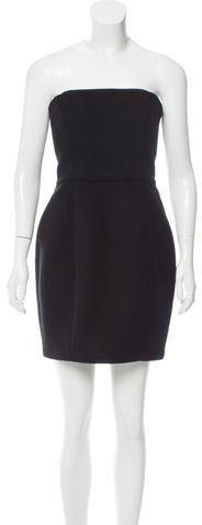 Stella McCartney Wool Strapless Dress