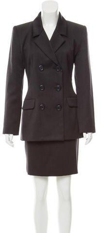 Yves Saint Laurent Wool Skirt Suit