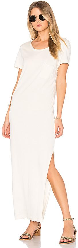 Wildfox Couture Solid Midi T-Shirt Dress in Ivory