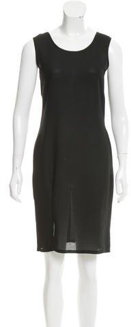 Sonia Rykiel Sleeveless Sheer Midi Dress