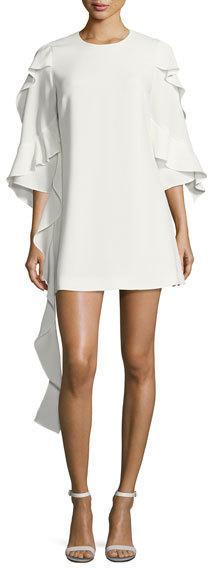 Alexis Sofie Crepe Cascading-Ruffle Mini Dress