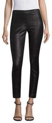 Elie Tahari Roxanna Leather Printed Pants