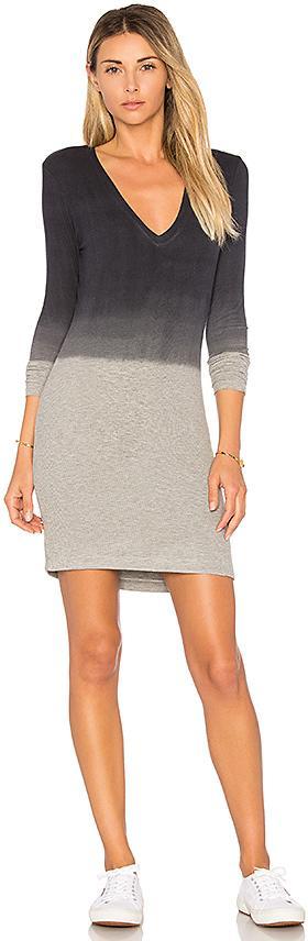 Feel the Piece Laurel V Neck Dress in Gray