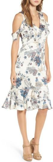 Women's Willow & Clay Print Cold Shoulder Dress