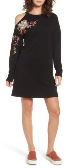 Women's Socialite Embroidered Sweatshirt Dress