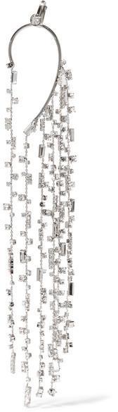 Off-White - Silver-tone Crystal Ear Cuff
