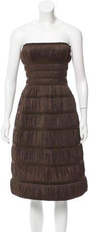 Alaïa Strapless Ruched Dress