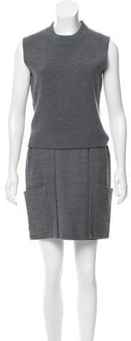 3.1 Phillip Lim Wool Sleeveless Mini Dress