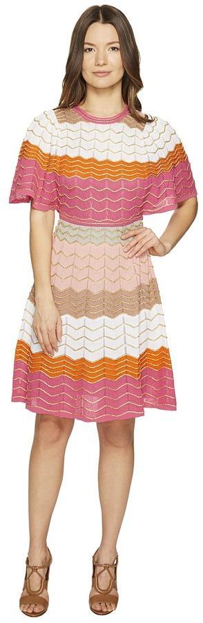 M Missoni Color Block Zigzag Dress