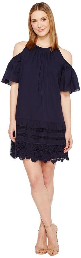 Maggy London Cold-Shoulder Shift Dress