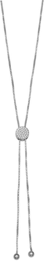 Brilliance Silver Plated Bolo Necklace with Swarovski Crystals