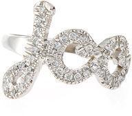 Jennifer Creel 14K Gold Monogram Ring with Diamonds