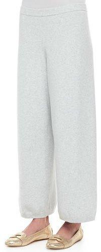 Eileen Fisher Wide-Leg Knit Pants, Petite