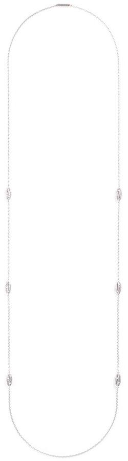 Ferrari Firenze 'Mademoiselle' diamond 18k white gold cage station necklace