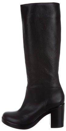 Robert Clergerie Leather Mid-Calf Boots