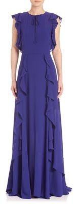 Ruffle Pleated Gown