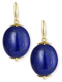 Miseno Sea Leaf Lapis Earrings