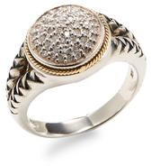 Sterling Silver and 18K Yellow Gold Diamond Ring