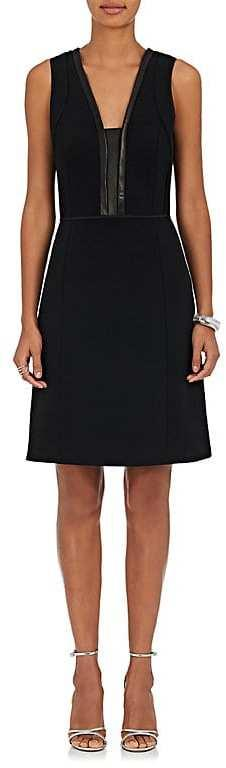 Narciso Rodriguez Women's Leather-Trimmed Wool Sheath Dress