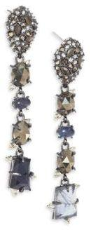 Alexis Bittar Elements Semi-Precious Multi-Stone Linear Earrings