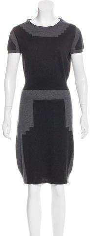 Yves Saint Laurent Cashmere Colorblock Dress