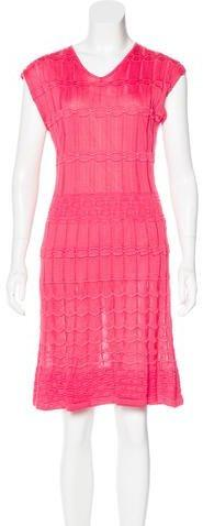 M Missoni Textured Knee-Length Dress w/ Tags