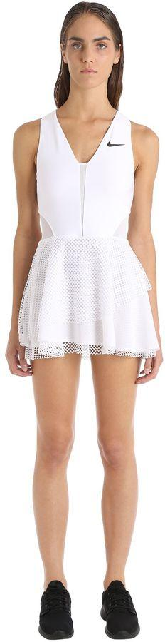 Tennis Dress With Mesh Overlays