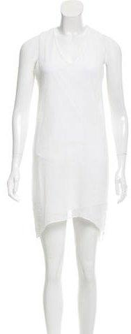 Helmut Lang Sleeveless High-Low Dress