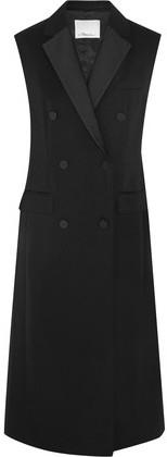3.1 Phillip Lim Satin-Trimmed Wool-Twill Gilet