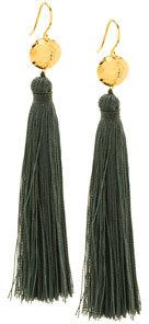 Gorjana Leaucadia Green Tassel Earrings