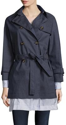 Trench Belted Drawstring Coat