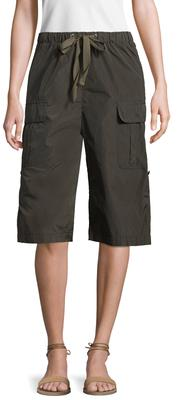 High Rise Cropped Cargo Pant
