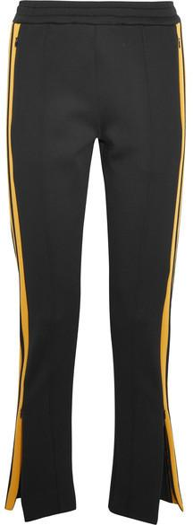 Joseph - Scuba Striped Stretch-neoprene Track Pants - Black