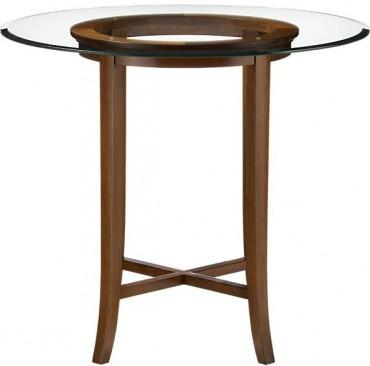 Halo Cognac 42 High Dining Table With 48 Glass Top