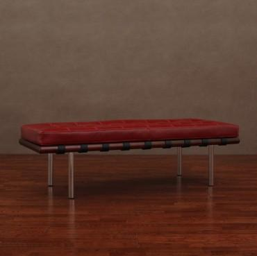 Andalucia Burnt Red Leather Bench Trendylog