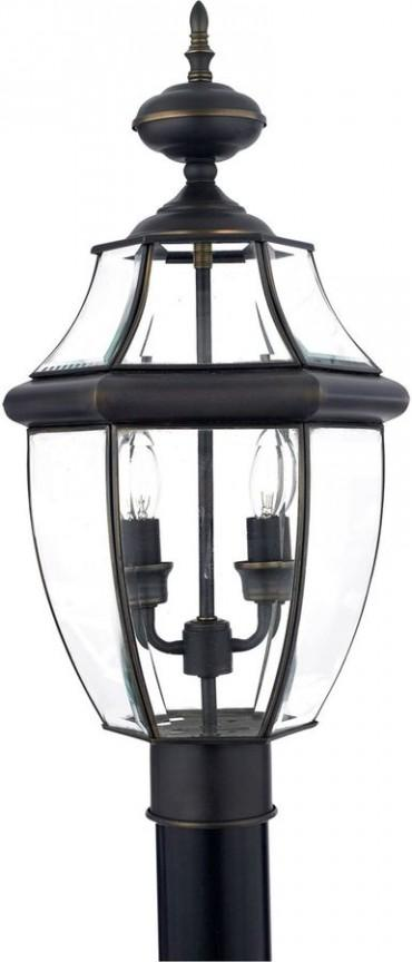 Quoizel Newbury Outdoor Post Lantern In Medici Bronze Trendylog
