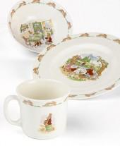 "Royal Doulton ""Bunnykins"" 3-Piece Children's Dinnerware Set"