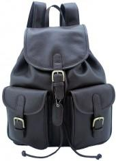 Leatherbay pockets backpack
