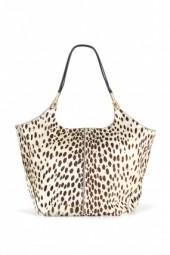 Elizabeth and James Spotted Hair Calf Shopper Bag