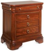 Bordeaux Louis Philippe-Style 4-Drawer Nightstand