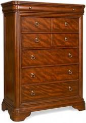 Bordeaux Louis Philippe-Style 6-Drawer Chest